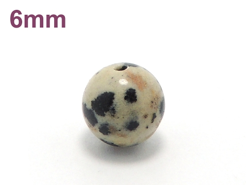 パワーストーン天然石ビーズ粒売り ダルメシアンジャスパーAAA6ミリ 才能開花 ハンドメイド・手作りアクセサリー用 (10003)