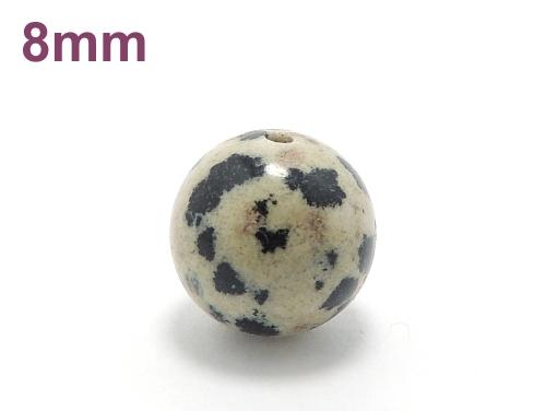 パワーストーン天然石ビーズ粒売り ダルメシアンジャスパーAAA8ミリ 才能開花 ハンドメイド・手作りアクセサリー用 (10004)