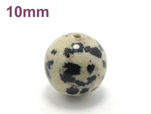パワーストーン天然石ビーズ粒売り ダルメシアンジャスパーAAA10ミリ 才能開花 ハンドメイド・手作りアクセサリー用 (10005)