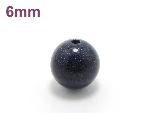 パワーストーン天然石ビーズ粒売り ブルーゴールドストーン(人工石)6ミリ ハンドメイド・手作りアクセサリー用 (10009)