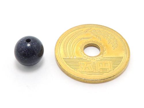 パワーストーン天然石ビーズ粒売り ブルーゴールドストーン(人工石)8ミリ ハンドメイド・手作りアクセサリー用 (10010)