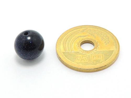 パワーストーン天然石ビーズ粒売り ブルーゴールドストーン(人工石)10ミリ ハンドメイド・手作りアクセサリー用 (10011)