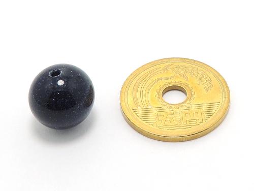 パワーストーン天然石ビーズ粒売り ブルーゴールドストーン(人工石)12ミリ ハンドメイド・手作りアクセサリー用 (10012)