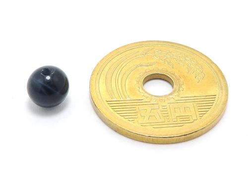 パワーストーン天然石ビーズ粒売り ブルータイガーアイAAAA(10月誕生日石)6ミリ 金運 ハンドメイド・手作りアクセサリー用 (10016)