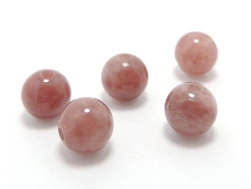 パワーストーン天然石ビーズ粒売り レッドクォーツ(赤水晶)AAAA6ミリ 健康・癒し ハンドメイド・手作りアクセサリー用 (10018)