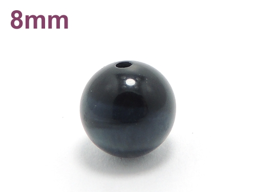 パワーストーン天然石ビーズ粒売り ブルータイガーアイAAAA(10月誕生石)8ミリ 金運 ハンドメイド・手作りアクセサリー用 (10019)