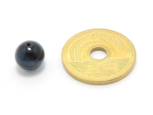 パワーストーン天然石ビーズ粒売り ブルータイガーアイAAAA(10月誕生日石)8ミリ 金運 ハンドメイド・手作りアクセサリー用 (10019)