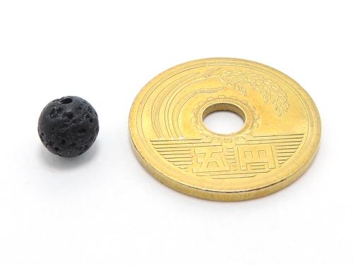パワーストーン天然石ビーズ粒売り ラバーストーン(溶岩石)AAAA6ミリ 対人関係 ハンドメイド・手作りアクセサリー用 (10024)