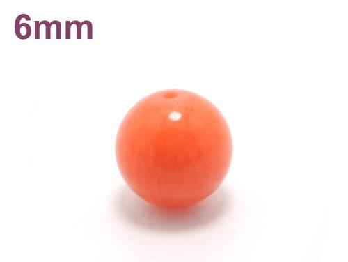 パワーストーン天然石ビーズ粒売り オレンジコーラル(山珊瑚)AAAA(3月誕生石)6ミリ 魔除・厄除 ハンドメイド・手作りアクセサリー用 (10030)