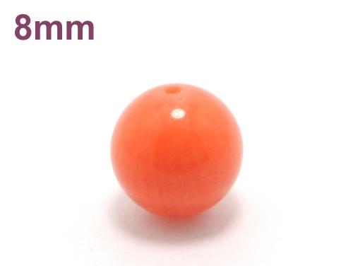 パワーストーン天然石ビーズ粒売り オレンジコーラルAAAA(3月誕生石)8ミリ 魔除・厄除 ハンドメイド・手作りアクセサリー用 (10031)