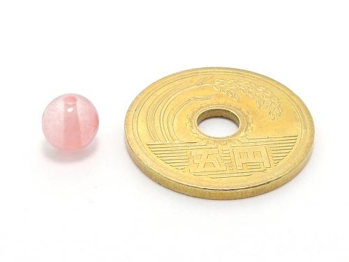 パワーストーン天然石ビーズ粒売り チェリークォーツ(人工石)6ミリ ハンドメイド・手作りアクセサリー用 (10034)