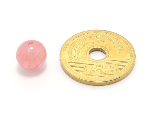パワーストーン天然石ビーズ粒売り チェリークォーツ(人工石)8ミリ ハンドメイド・手作りアクセサリー用 (10036)