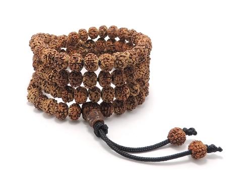 ネパール ルドラークシャ9ミリ 本式108数珠 超レア一生もの・入手困難・高級一点物現品限り [送料無料]