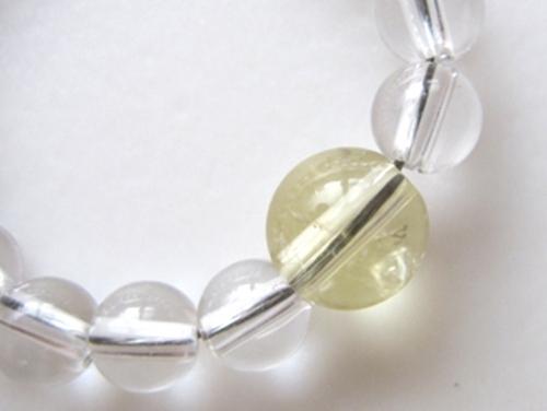 パワーストーンストラップ シトリンAAAA(11月誕生日石)6ミリ クリスタル(水晶)AAAAA最高品質(4月誕生日石)4ミリ 金運・開運[日本製][送料無料] (10120)