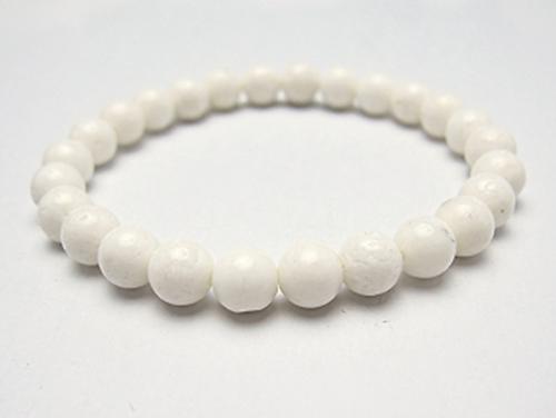 パワーストーンブレスレット ホワイトコーラル(3月誕生石)6ミリ 健康・癒し ワンカラーブレス [サイズ選べる][日本製][送料無料] (10215)