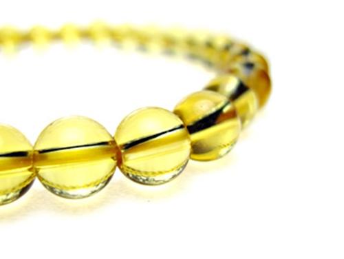 パワーストーンブレスレット シトリンクォーツAAA(11月誕生石)6ミリ 金運 ワンカラーブレス [サイズ選べる][日本製][送料無料] (10217)