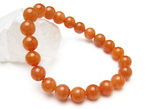 パワーストーンブレスレット オレンジアベンチュリンAAA(5月誕生石)8ミリ 仕事運 ワンカラーブレス [サイズ選べる][日本製][送料無料] (10365)