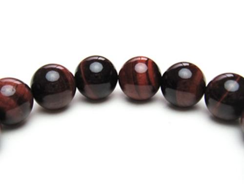 パワーストーンブレスレット レッドタイガーアイAAAA(10月誕生石)10ミリ 金運 ワンカラーブレス [サイズ選べる][日本製][送料無料] (10371)