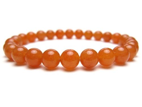 パワーストーンブレスレット オレンジアベンチュリンAAA(5月誕生石)6ミリ 仕事運 ワンカラーブレス [サイズ選べる][日本製][送料無料] (10377)