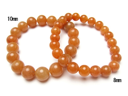 パワーストーンペアブレスレット オレンジアベンチュリンAAA(5月誕生日石)10ミリ&8ミリ 仕事運 [サイズ選べる][日本製][送料無料] (10413)