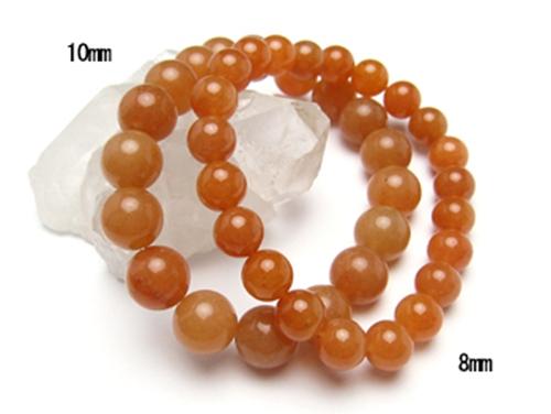 パワーストーンペアブレスレット オレンジアベンチュリンAAA(5月誕生石)10ミリ&8ミリ 仕事運 [サイズ選べる][日本製][送料無料] (10413)