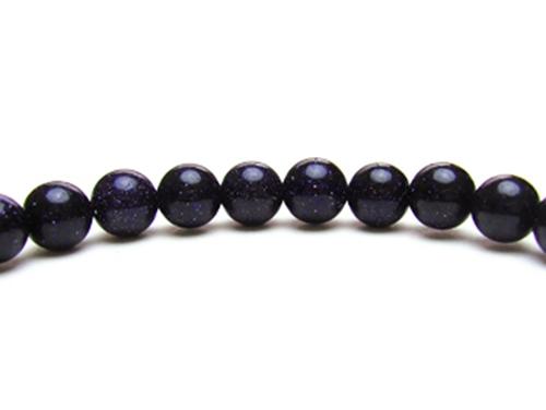 パワーストーンブレスレット ブルーゴールドストーン(人工石)6ミリ ワンカラーブレス [サイズ選べる][日本製][送料無料] (10433)