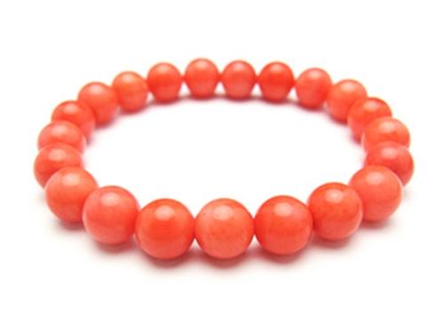 パワーストーンブレスレット オレンジコーラルAAAA(3月誕生石)9ミリ 魔除・厄除 ワンカラーブレス [サイズ選べる][日本製][送料無料] (10471)