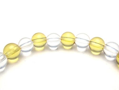 パワーストーンブレスレット シトリンクォーツAAA(11月誕生日石)6ミリ クリスタル(水晶)AAAAA最高品質(4月誕生日石)6ミリ 金運・開運 [サイズ選べる][日本製][送料無料] (10647)