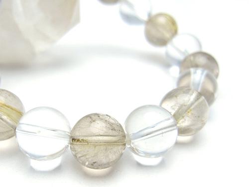 パワーストーンブレスレット ルチルクォーツAAAA10ミリ クリスタル(水晶)AAAAA最高品質(4月誕生日石)10ミリ 金運・開運 [サイズ選べる][日本製][送料無料] (10679)