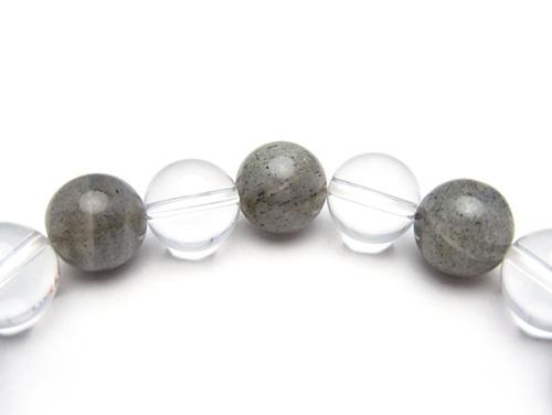 パワーストーンブレスレット ラブラドライトAAA10ミリ クリスタル(水晶)AAAAA最高品質(4月誕生石)10ミリ 仕事運・開運 [サイズ選べる][日本製][送料無料] (10680)