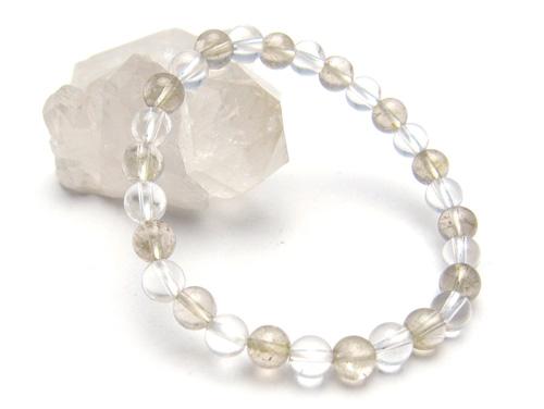 パワーストーンブレスレット ルチルクォーツAAA6ミリ クリスタル(水晶)AAAAA最高品質(4月誕生石)6ミリ 金運・開運 [サイズ選べる][日本製][送料無料] (10697)