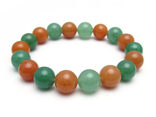 パワーストーンブレスレット オレンジアベンチュリンAAA(5月誕生石)10ミリ グリーンアベンチュリンAAA(5月誕生石)10ミリ 健康・癒し・仕事運 [サイズ選べる][日本製][送料無料] (10735)