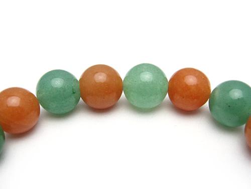 パワーストーンブレスレット オレンジアベンチュリンAAA(5月誕生日石)10ミリ グリーンアベンチュリンAAA(5月誕生日石)10ミリ 健康・癒し・仕事運 [サイズ選べる][日本製][送料無料] (10735)