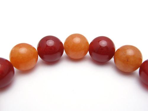 パワーストーンブレスレット レッドアゲートAAAA10ミリ オレンジアベンチュリンAAA(5月誕生石)10ミリ 魔除・厄除・仕事運 [サイズ選べる][日本製][送料無料] (10762)