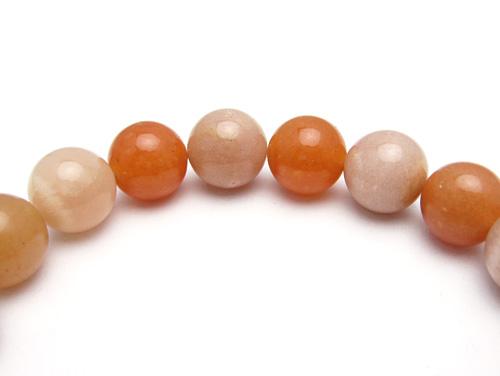 パワーストーンブレスレット オレンジムーンストーンAAAA(6月誕生石)10ミリ オレンジアベンチュリンAAA(5月誕生石)10ミリ 仕事運・復縁・恋愛運 [サイズ選べる][日本製][送料無料] (10767)