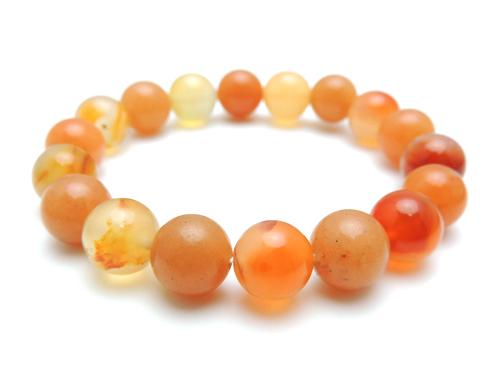 パワーストーンブレスレット オレンジアベンチュリンAAA(5月誕生石)10ミリ カーネリアンAAAA(7月誕生石)10ミリ 魔除・厄除・仕事運 [サイズ選べる][日本製][送料無料] (10806)
