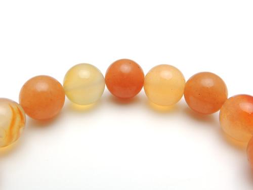 パワーストーンブレスレット カーネリアンAAAA(7月誕生日石)10ミリ オレンジアベンチュリンAAA(5月誕生日石)10ミリ 魔除・厄除・仕事運 [サイズ選べる][日本製][送料無料] (10806)