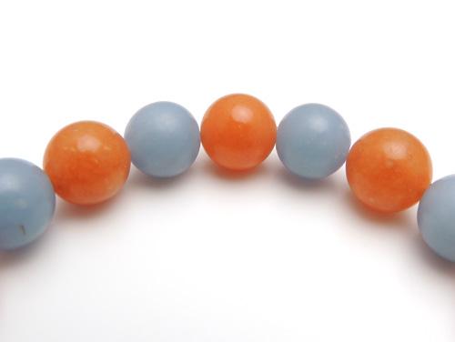 パワーストーンブレスレット エンジェライトAAAA10ミリ オレンジアベンチュリンAAA(5月誕生石)10ミリ 対人関係・仕事運 [サイズ選べる][日本製][送料無料] (10807)