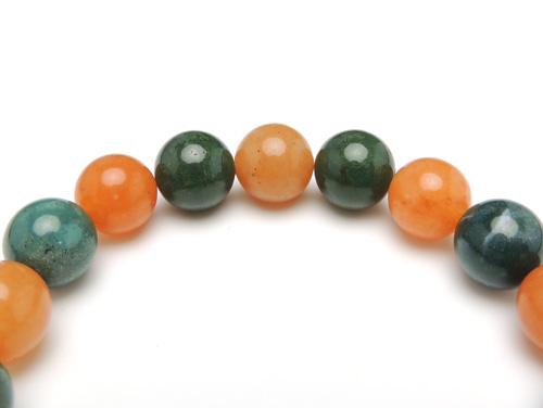 パワーストーンブレスレット ブラッドストーンAAAA(3月誕生石)10ミリ オレンジアベンチュリンAAA(5月誕生石)10ミリ 魔除・厄除・仕事運 [サイズ選べる][日本製][送料無料] (10907)