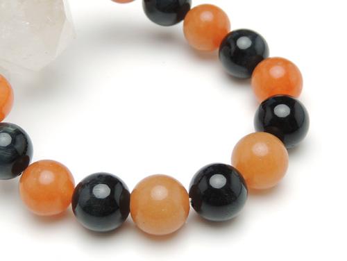 パワーストーンブレスレット ブルータイガーアイAAAA(10月誕生石)10ミリ オレンジアベンチュリンAAA(5月誕生石)10ミリ 金運・仕事運 [サイズ選べる][日本製][送料無料] (10911)