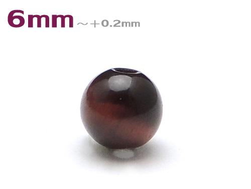 パワーストーン天然石ビーズ粒売り レッドタイガーアイAAAA(10月誕生石)6ミリ 金運 ハンドメイド・手作りアクセサリー用 (11076)
