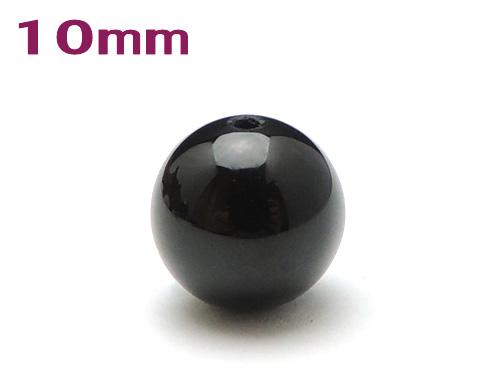 パワーストーン天然石ビーズ粒売り オニキスAAAAA最高品質(8月誕生石)10ミリ 魔除・厄除 ハンドメイド・手作りアクセサリー用 (11084)