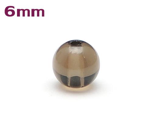 パワーストーン天然石ビーズ粒売り スモーキークォーツAAAA6ミリ 魔除・厄除 ハンドメイド・手作りアクセサリー用 (11089)