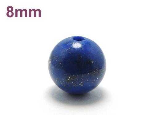 パワーストーン天然石ビーズ粒売り ラピスラズリAAAA(9月誕生石)8ミリ 開運 ハンドメイド・手作りアクセサリー用 (11093)