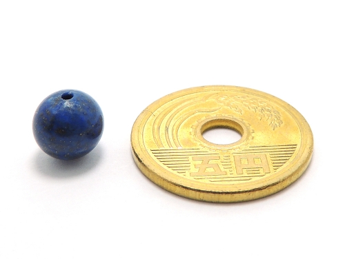 パワーストーン天然石ビーズ粒売り ラピスラズリAAAA(9月誕生日石)10ミリ 開運 ハンドメイド・手作りアクセサリー用 (11094)