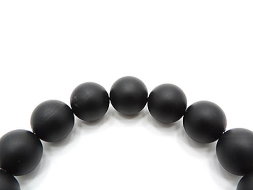 パワーストーンブレスレット(メンズ) オニキス(つや消し)AAAA(8月誕生日石)12ミリ 仕事運 ワンカラーブレス [サイズ選べる][日本製][送料無料] (11102)
