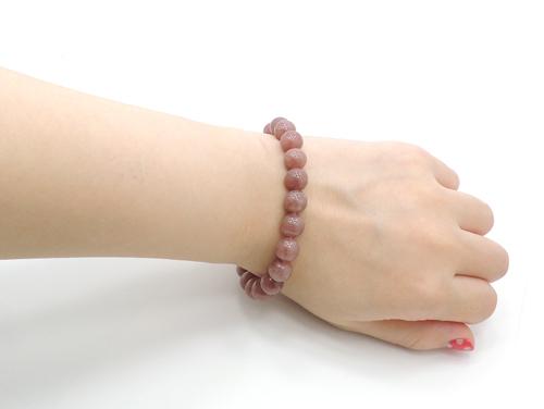 パワーストーンブレスレット レッドクォーツ(赤水晶)AAAA8ミリ 健康・癒し ワンカラーブレス [サイズ選べる][日本製][送料無料] (11108)