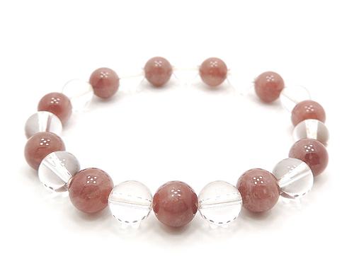 パワーストーンブレスレット レッドクォーツ(赤水晶)AAAA8ミリ クリスタル(水晶)AAAAA最高品質(4月誕生石)8ミリ 健康・癒し・開運 [サイズ選べる][日本製][送料無料] (11111)