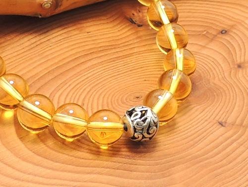 エスニックブレスレット・アジアンパワーストーン チベット合金8ミリ シトリンAAA(11月誕生日石)8ミリ 魔除・厄除・金運 [サイズ選択可][日本製][送料無料] (11361)