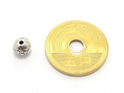 アジアン・エスニックビーズ粒売り チベット合金6ミリ 魔除・厄除 ハンドメイド・手作りアクセサリー用 (11541)